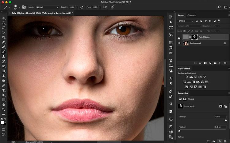 Trabalhar com duas janelas no Photoshop