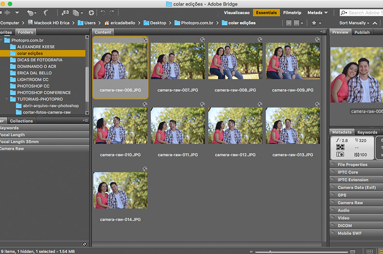 copiar-colar-camera-raw-01, atalho para copiar e colar configurações do camera raw, camera raw, tutoriais photopro