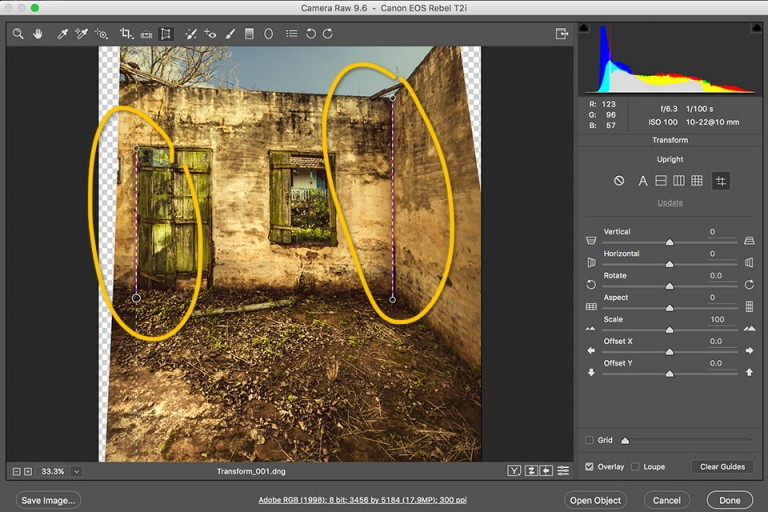 acr, transform acr, camera raw, erica dal bello, como usar a ferramenta transform no acr, transform tool, mudança no acr, novidade acr, ferramenta transform, tutorial de camera raw, tutoriais camera raw, tutoriais acr, Ferramenta Transform, acr tutorial