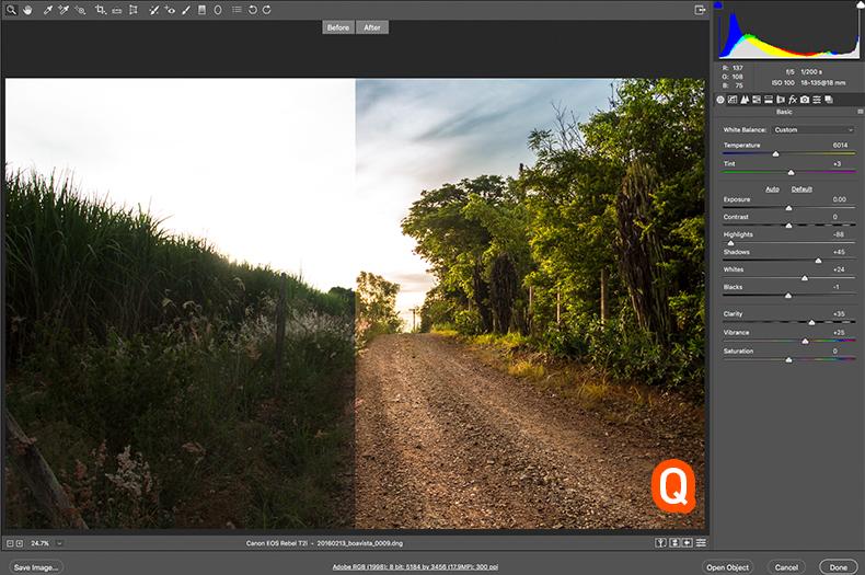 opções de preview no camera raw, camera raw, preview camera raw, acr, preview acr, acr preview, como ver antes e depois no acr, como ver antes e depois no camera raw